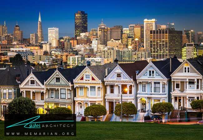 خانه های بانوان نقاشی - 5 نمونه از بهترین ساختمان ها با معماری سبک ویکتوریا در سان فرانسیسکو