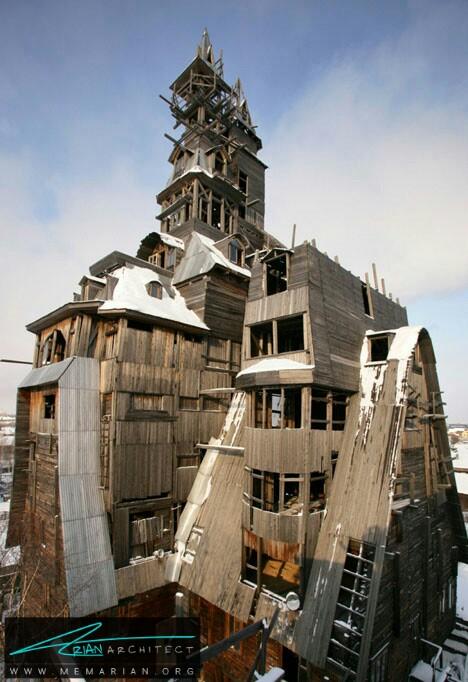 آسمان خراش چوبی عجیب و غریب، روسیه - خانه شگفت انگیز