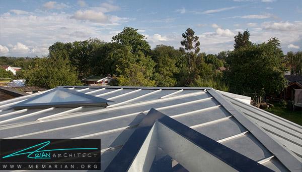 معماری پروژه بارنهام هود توسطگروه معماریMOCT Studio، لندن -معماری سقف خارجی