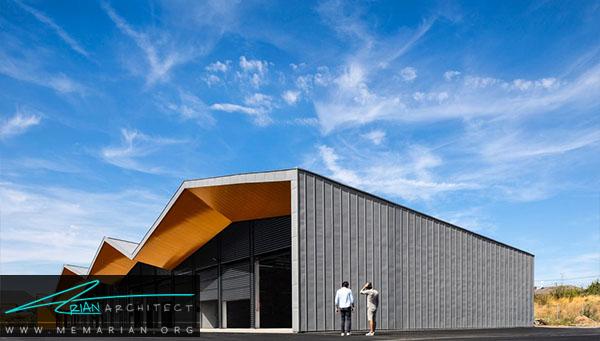 مرکز فنی ، گروه معماری ام اف ای ونیکولا مارتینولی فرانسه -معماری سقف خارجی