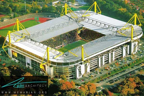 استادیوم سیگنال ایدونا پارک در دورتموند - معماری استادیوم جام جهانی
