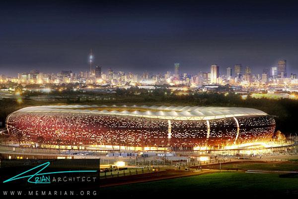 استادیوم FNB ژوهانسبورگ - معماری استادیوم جام جهانی