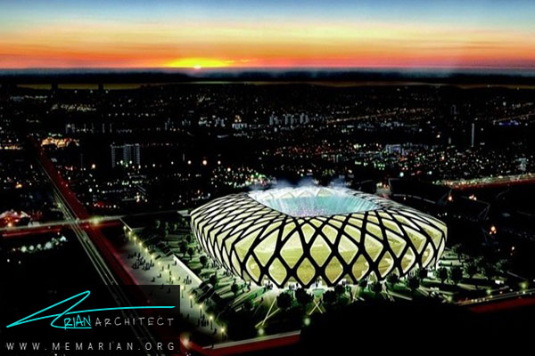 استادیوم ارنا دی مازونا شهرماناوس - معماری استادیوم جام جهانی