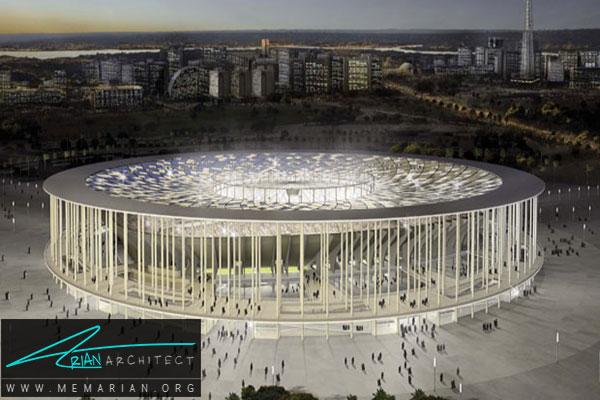 استادیوم ملی دی برازیلیا - معماری استادیوم جام جهانی