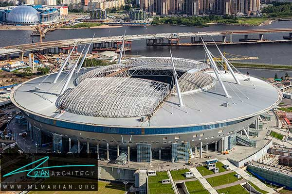 استادیوم ولگاگراد - معماری استادیوم جام جهانی