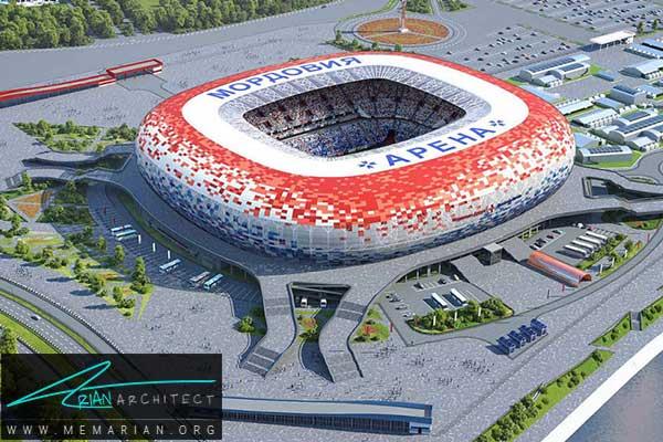 استادیوم موردویا در سارنسک - معماری استادیوم جام جهانی