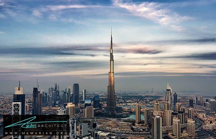برج الخلیفه در دبی - 10 نمونه از بهترین ساختمان های طراحی شده توسط معماران برتر
