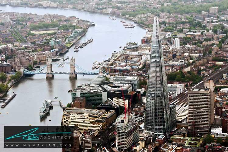 پروژه معماری ساختمان شارد در لندن - 10 نمونه از بهترین ساختمان های طراحی شده توسط معماران برتر