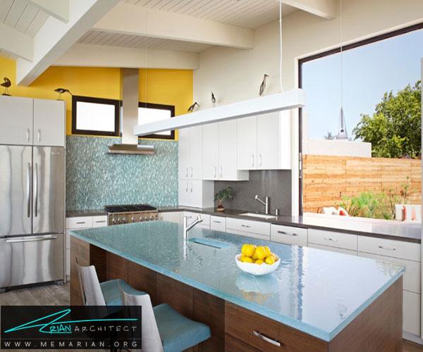 استفاده از شیشهای - بهترین مواد برای آشپزخانه