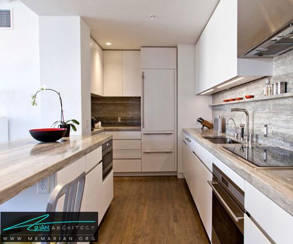 استفاده از سنگ تراورتن - بهترین مواد برای آشپزخانه