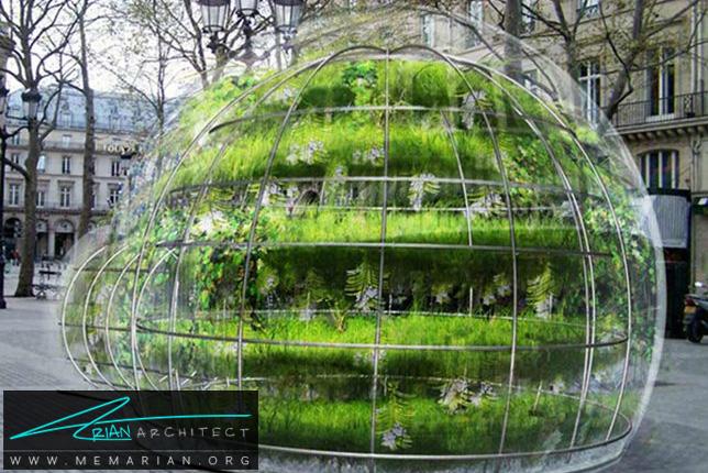 باغچه های زمستانی حبابی در پاریس - سازه حبابی