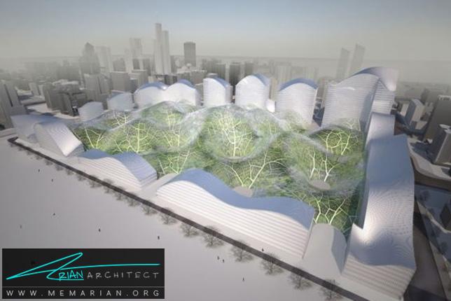 پارک پوشیده شده توسط حباب - سازه حبابی