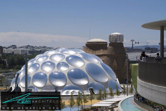 سازه حبابی با قطرات آب روی خود - سازه حبابی
