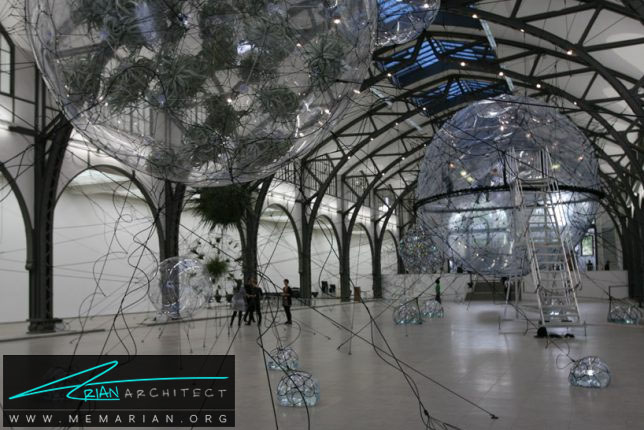 شهر ابری توسط توماس ساراکنو - سازه حبابی