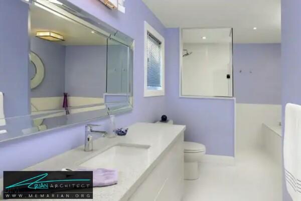معماری دستشویی و حمام تمام و کمال -معماری دستشویی و حمام رنگارنگ