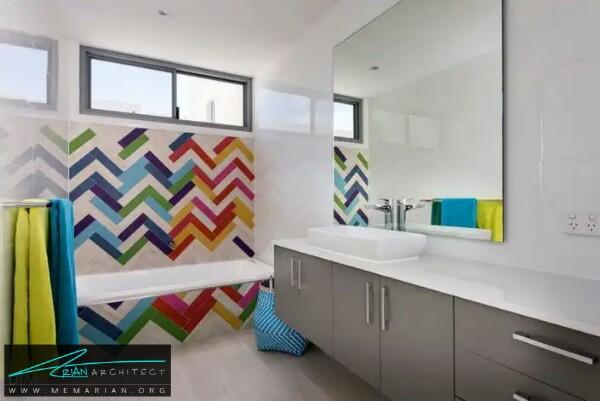 استفاده از تمام رنگ ها درمعماری دستشویی و حمام رنگارنگ -معماری دستشویی و حمام رنگارنگ