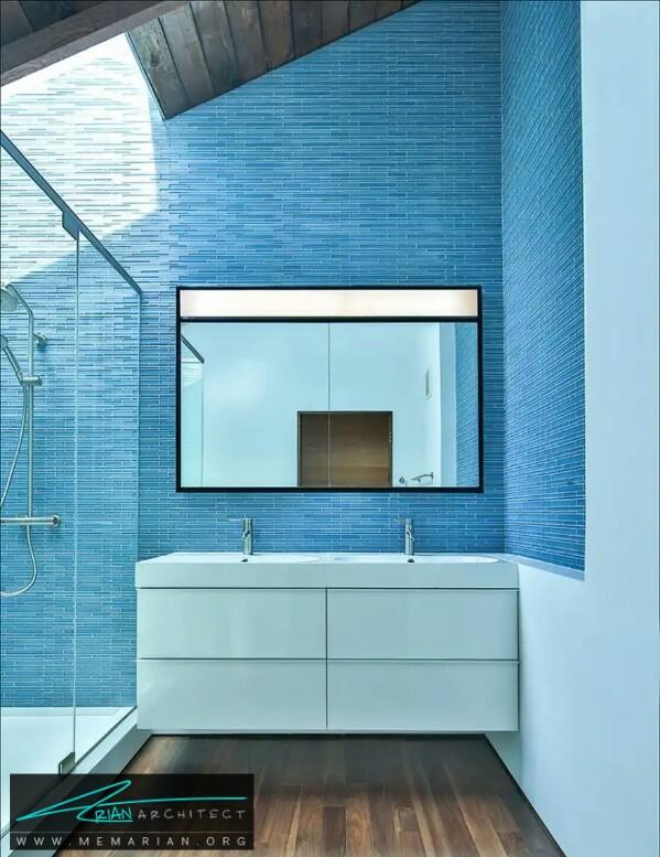 به رنگ دریا ، معماری آرامش بخش حمام و دستشویی -معماری دستشویی و حمام رنگارنگ