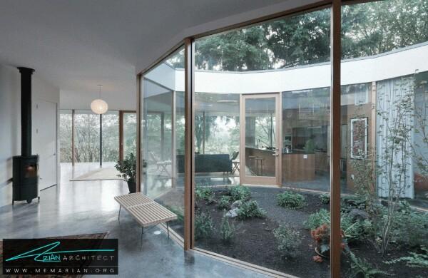 خانه بتنی حیاط دار توسط شرکت معماری NOA - معماری سرد و راحت
