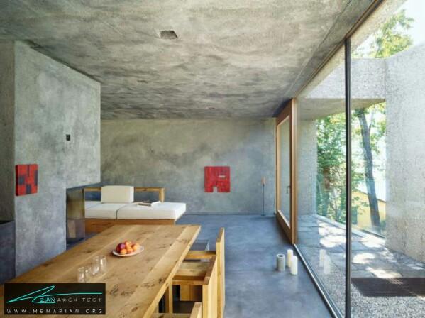 معماری سرد و راحت خانه بتنی توسط معماری وسپی رومئو - معماری سرد و راحت