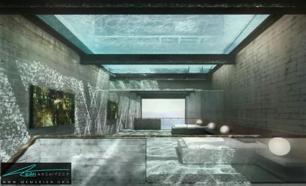 معماری سرد و راحت پروژه بتنی زیر آب - معماری سرد و راحت