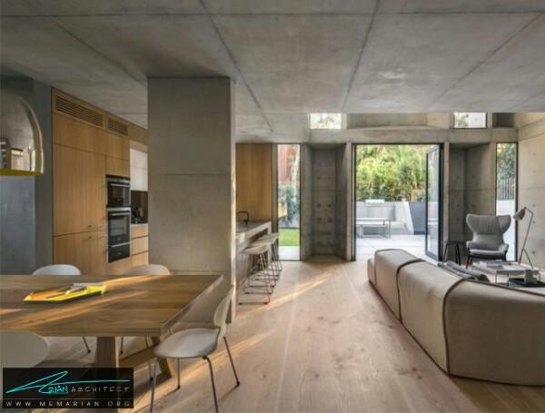 خانه بتنی دو طبقه توسط معماران نوبد رادفورد - معماری سرد و راحت