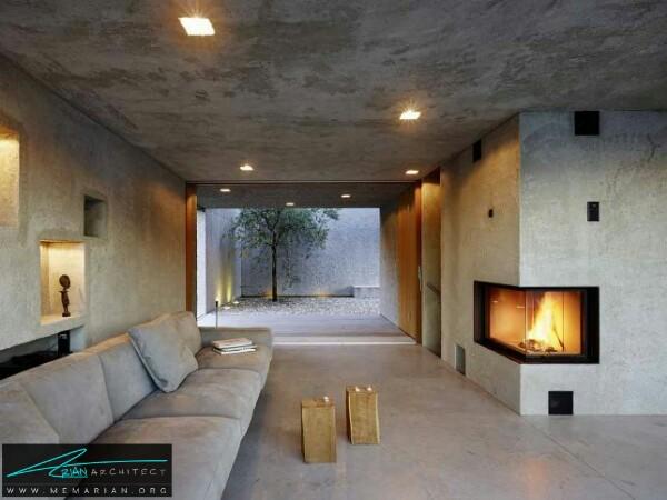 معماری خانه بتنی در بریساگو توسط وسپی رومئو - معماری سرد و راحت