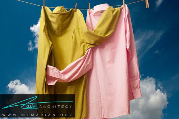 استفاده از لباس و پارچه کتانی - خنک کردن اتاقها