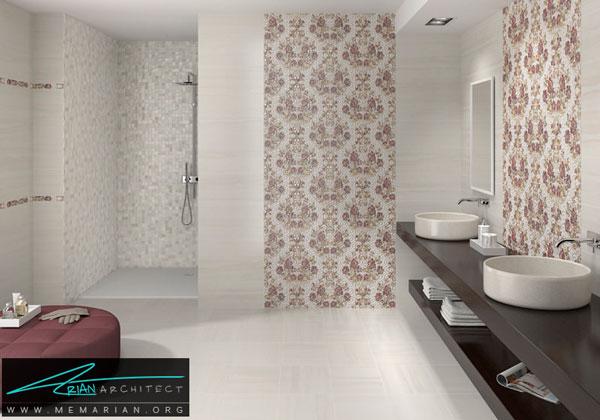 طراحی خلاقانه حمام با کاشی - طراحی خلاقانه