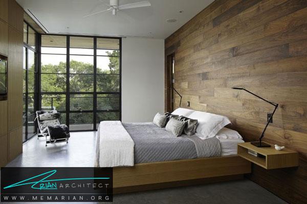 استفاده از مواد مختلف در تزیین اتاق خواب - طراحی خلاقانه
