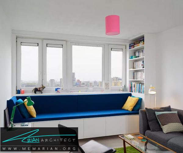 مرتب بودن اتاق با چیدمان خلاقانه - طراحی خلاقانه