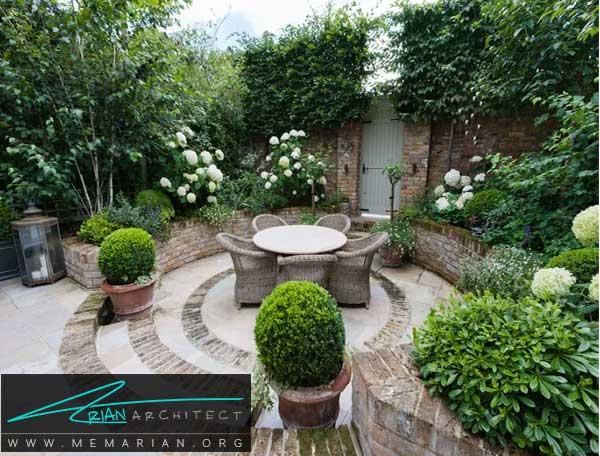 طراحی برگرفته از خلاقیت - طراحی باغچه حیاط