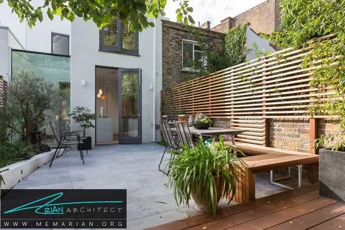 منتقل کردن سبک طراحی داخل منزل به باغچه حیاط - طراحی باغچه حیاط