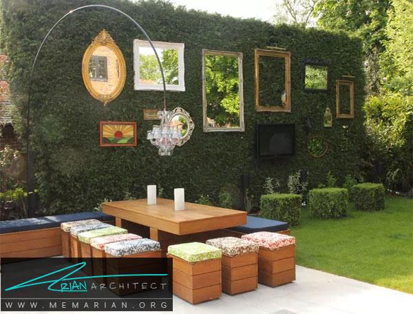 باغچه ای با فضای دلنشین - طراحی باغچه حیاط