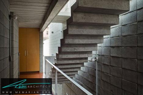 پله های معلق سنگین بتنی - پله های معلق