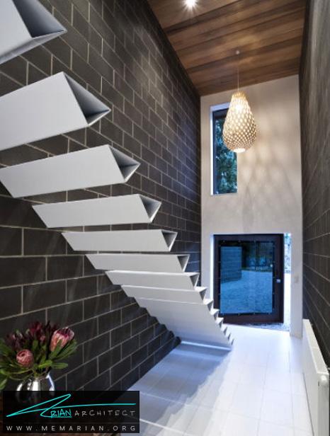 پله های مثلثی در خانه شلارد, نیوزیلند - پله های معلق