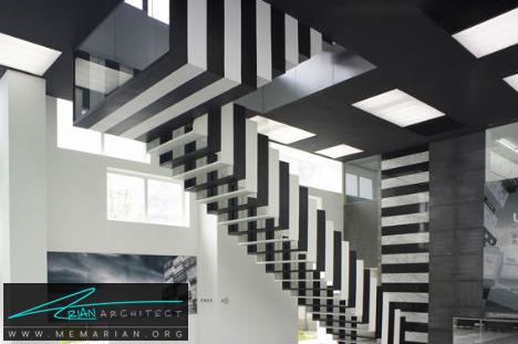 پلکان شناور سیاه و سفید در بامپس، پکن - پله های معلق