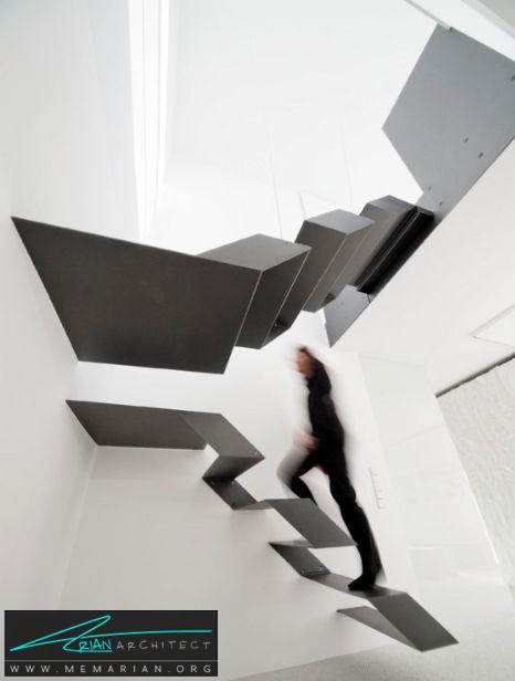 پله های شناور مدرن در اتریش - پله های معلق