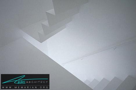 پله های سیاه مینیمال توسط اکول - پله های معلق