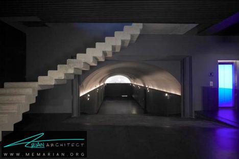 پله های بتنی معلق توسط ایوگن پونس - پله های معلق