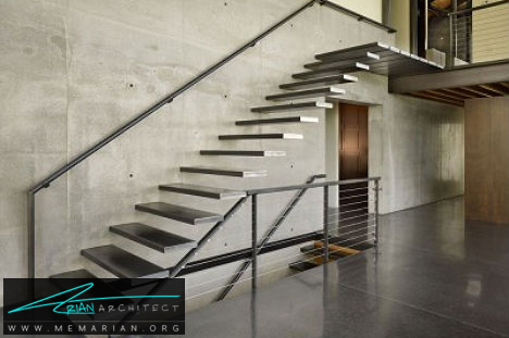 پله های شناور فولادی، سیاتل - پله های معلق