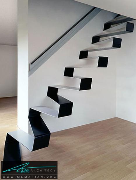 پله های معلق هنری توسط معماران HSH- پله های معلق