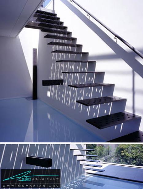 پلکان معلق با بازتاب های نوری فوق العاده- پله های معلق