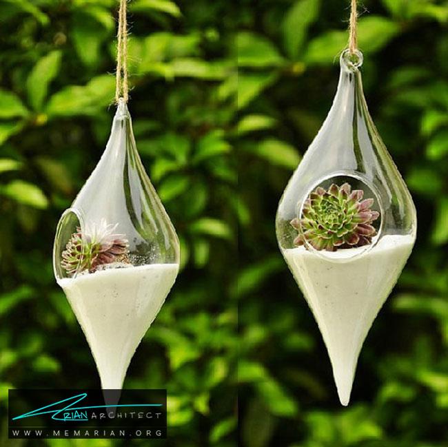 اقلام و مواد مختلف در داخل گلدان ها - چگونگی استفاده از گلدان برای دکوراسیون داخلی