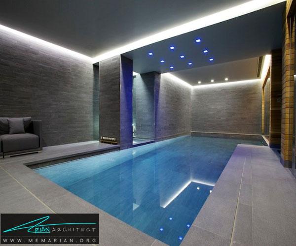 استخر شنای لوکس داخلی - استخر سرپوشیده خانگی