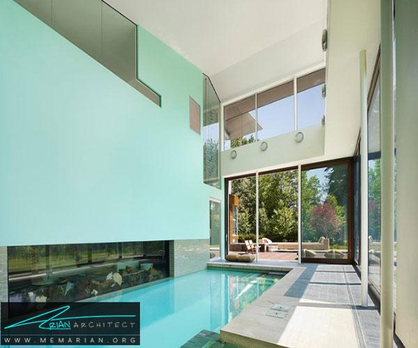 اقامتگاه دیویس در کالیفرنیا - استخر سرپوشیده خانگی