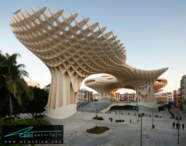 معماری چوبی پروژه متروپل پاراسول توسط معماران جِی مایر -معماری چوبی مدرن