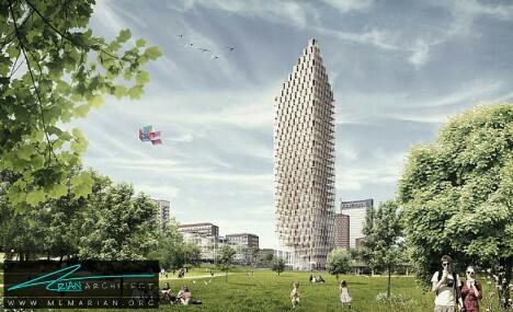 آسمان خراش چوبی توسط سی اف مولر-معماری چوبی مدرن
