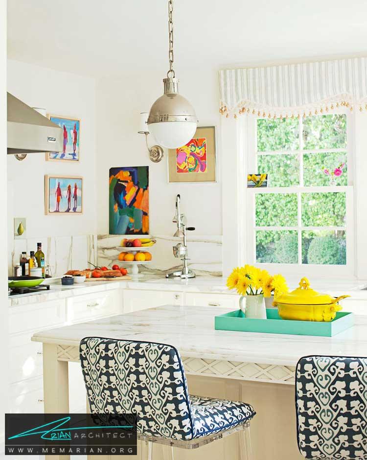 رنگ شاد و پر انرژی - 25 ایده ساده برای دستیابی به دکوراسیون تابستانی در خانه