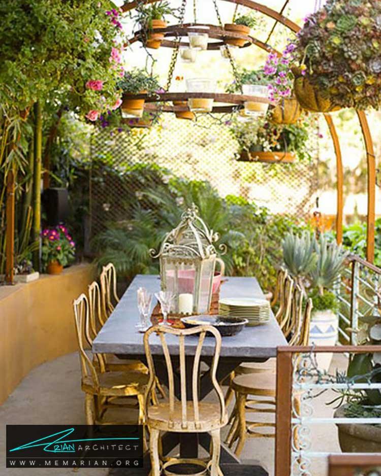 قاب گلدان ها در حیاط - 25 ایده ساده برای دستیابی به دکوراسیون تابستانی در خانه