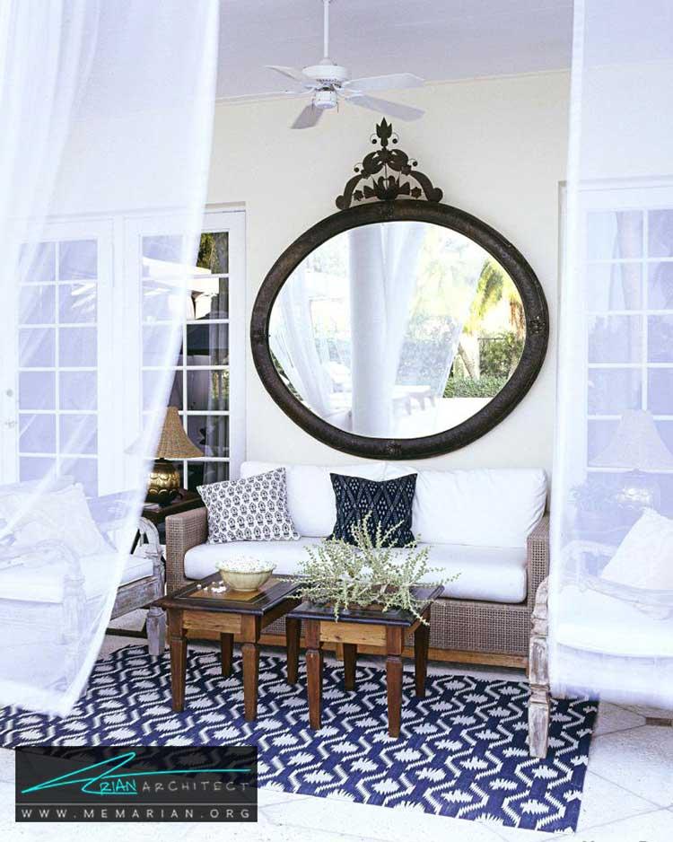 نصب آینه در فضاهای نیمه باز - 25 ایده ساده برای دستیابی به دکوراسیون تابستانی در خانه